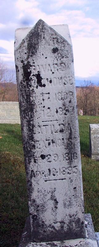 Headstone - Edward Greathouse and Matilda Blosser