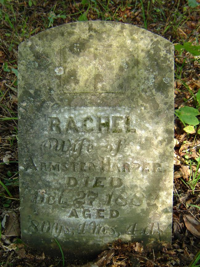 Rachael Harper headstone.