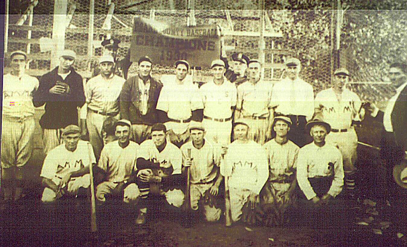 Amma Baseball Team, Roane County Champions 1930