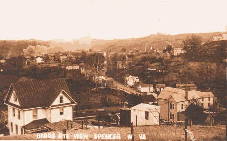 Birds Eye View of Spencer 1913
