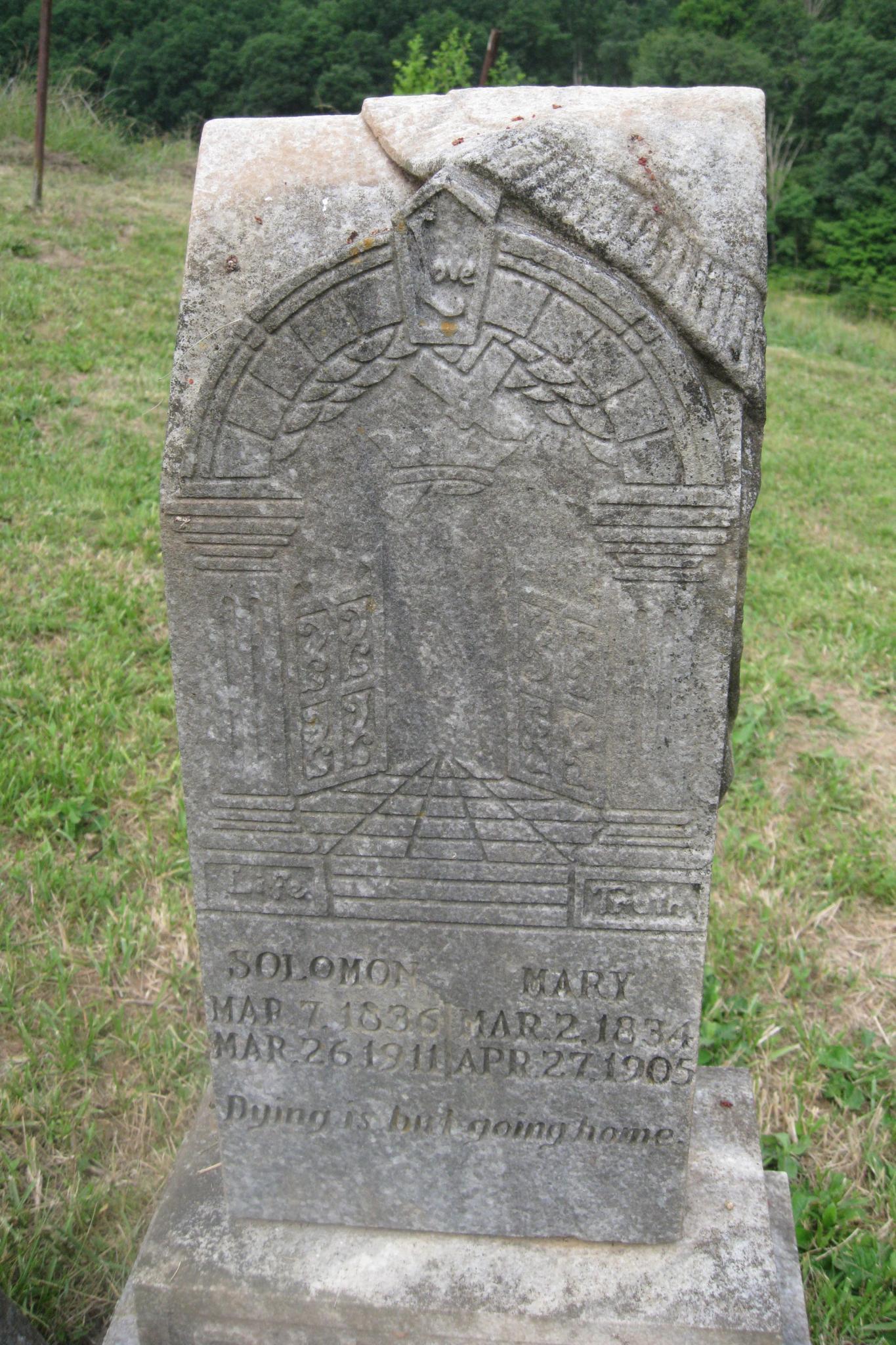 Solomon and Mary Salyers headstone
