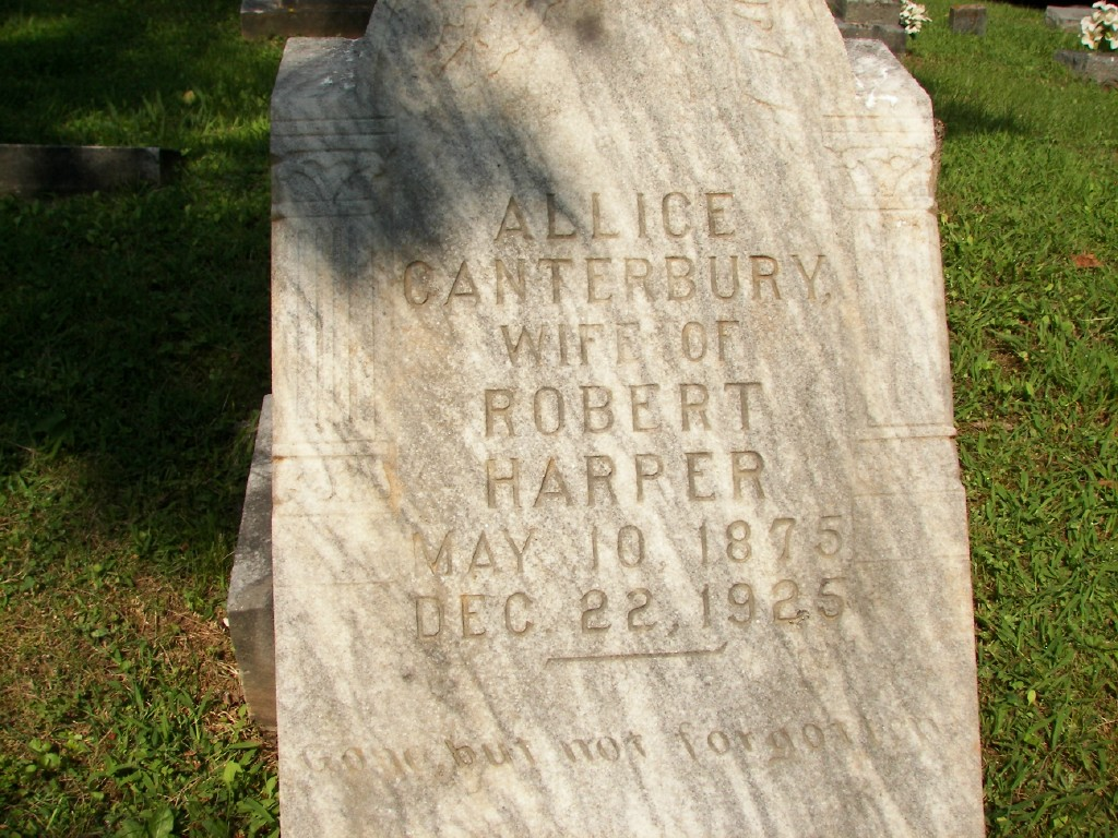 Alice Canterbury wife of Robert Harper