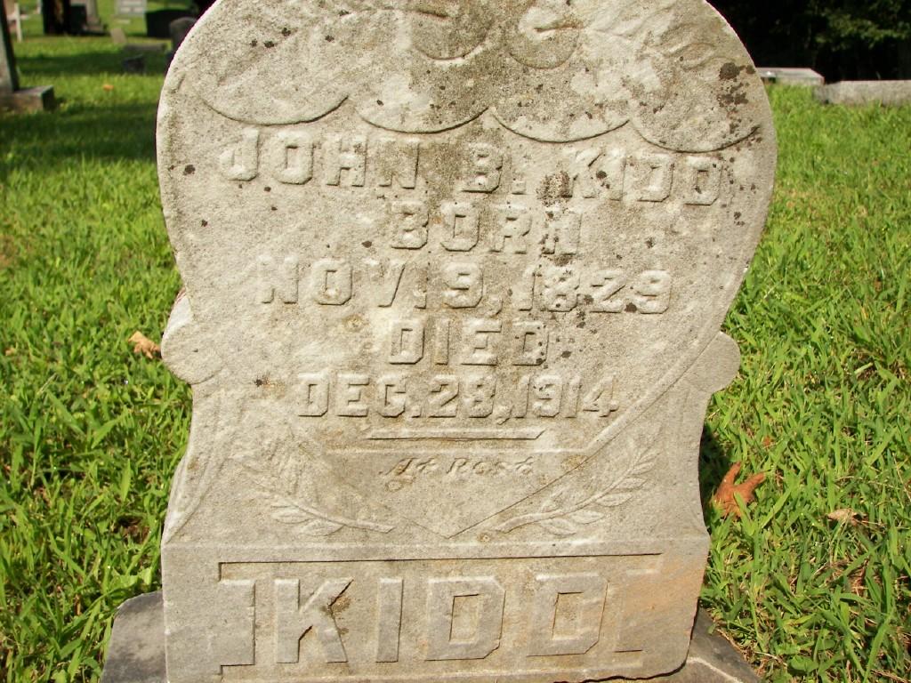 John B.Kidd grave marker